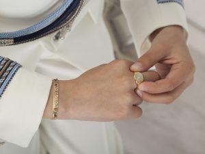 Fotos de comunión para niño anillo