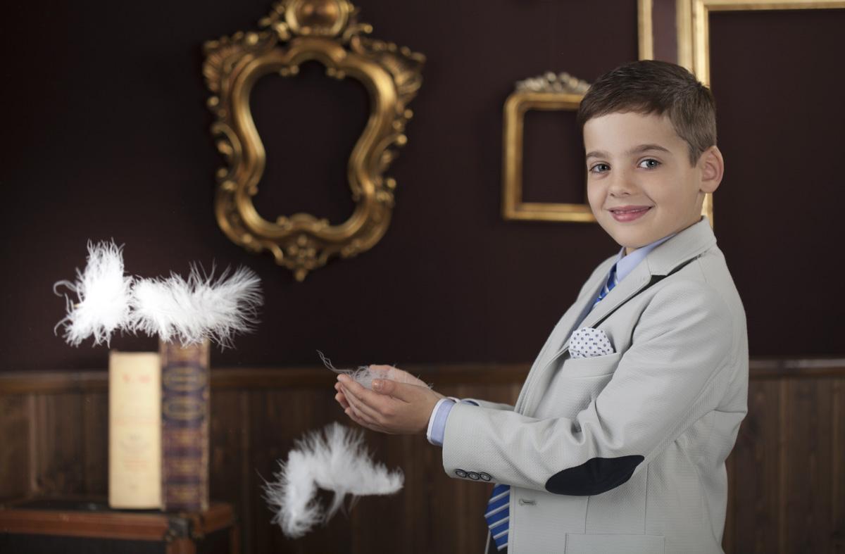 foto comunión niño traje chaqueta