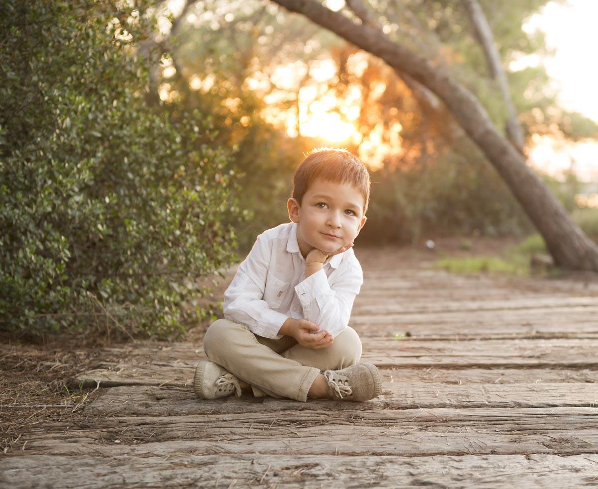 retrato infantil en exterior