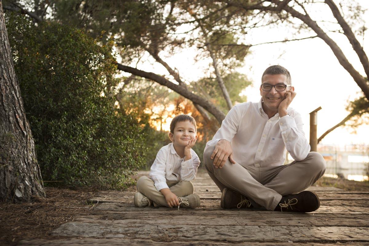 reporatje con papa e hijo