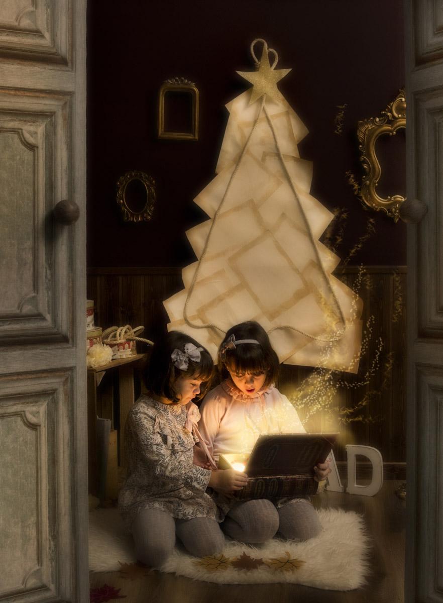 sesión de Navidad mágica