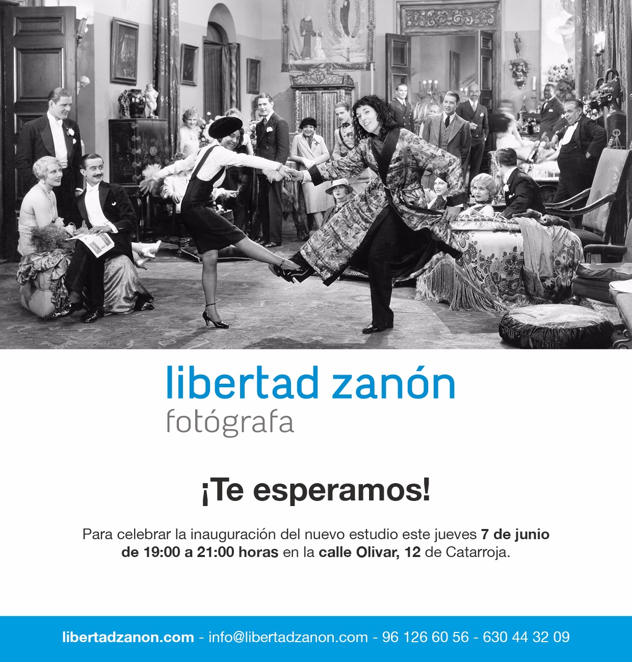 invitación de la inauguración de Aliques y Libertad zanón fotógrafa